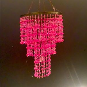 Bubblegum pink 3-tier chandelier NEW